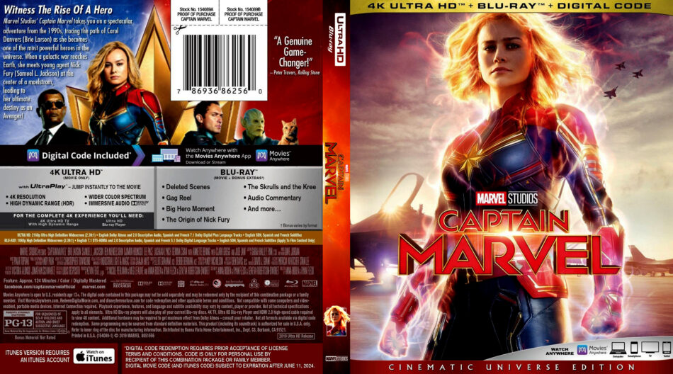 Captain Marvel (2019) R1 4K UHD Blu-Ray Cover - DVDcover Com