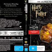 Harry Potter And The Deathly Hallows – Part 1 (2010) R4 4K UHD Cover & Labels