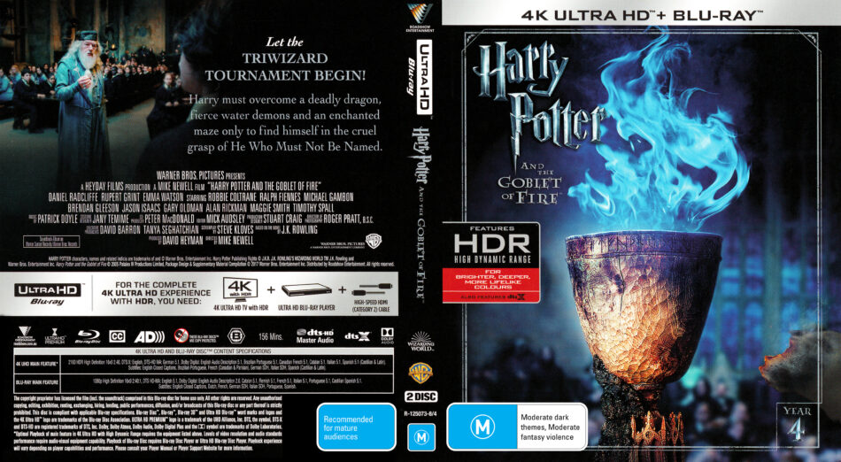 Harry Potter And The Goblet Of Fire 2005 R4 4k Uhd Cover Labels Dvdcover Com