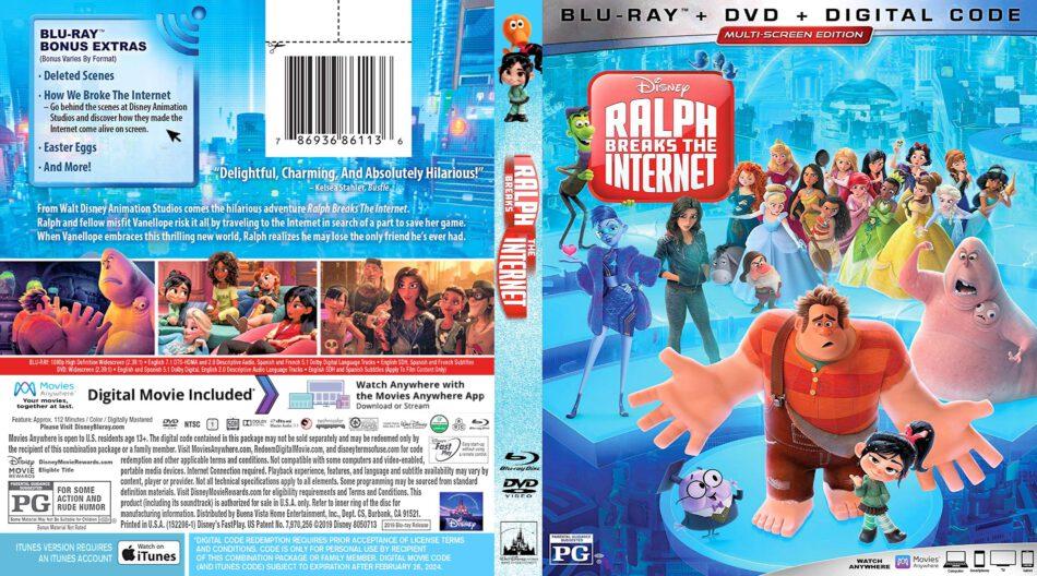 Ralph Breaks The Internet 2018 R1 Custom Blu Ray Cover Dvdcover Com