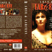 LOVE AND LARCENY (1985) R1 DVD COVER & LABEL