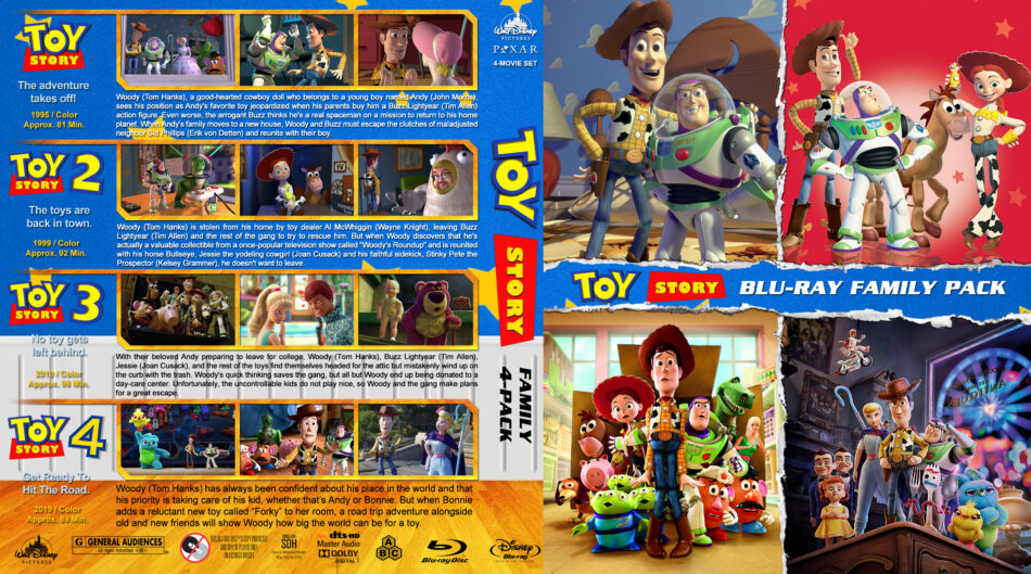 Toy Story 4 Pack R1 Custom Blu Ray Cover Dvdcover Com