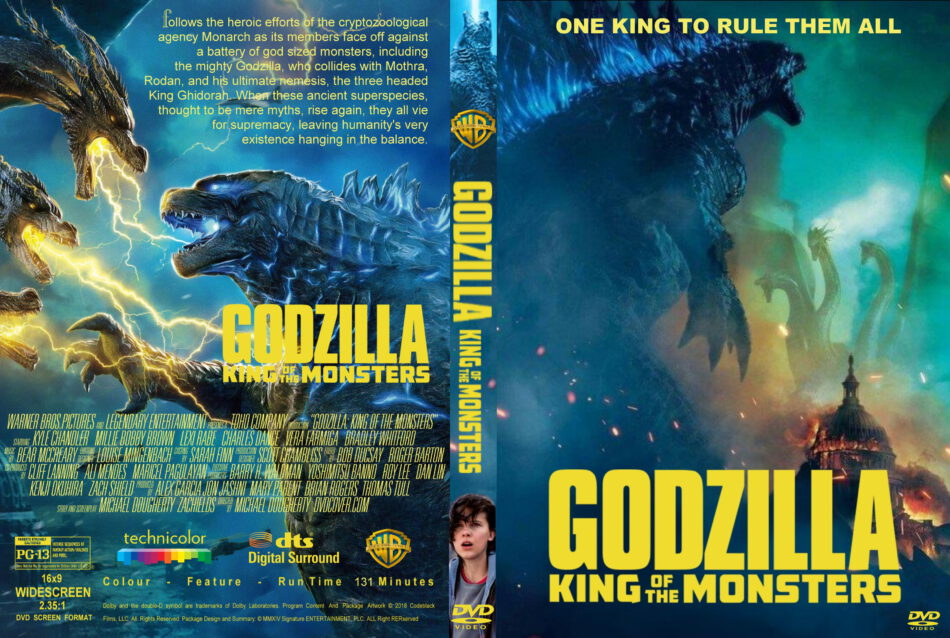 Godzilla King Of The Monsters 2019 R0 Custom Dvd Cover
