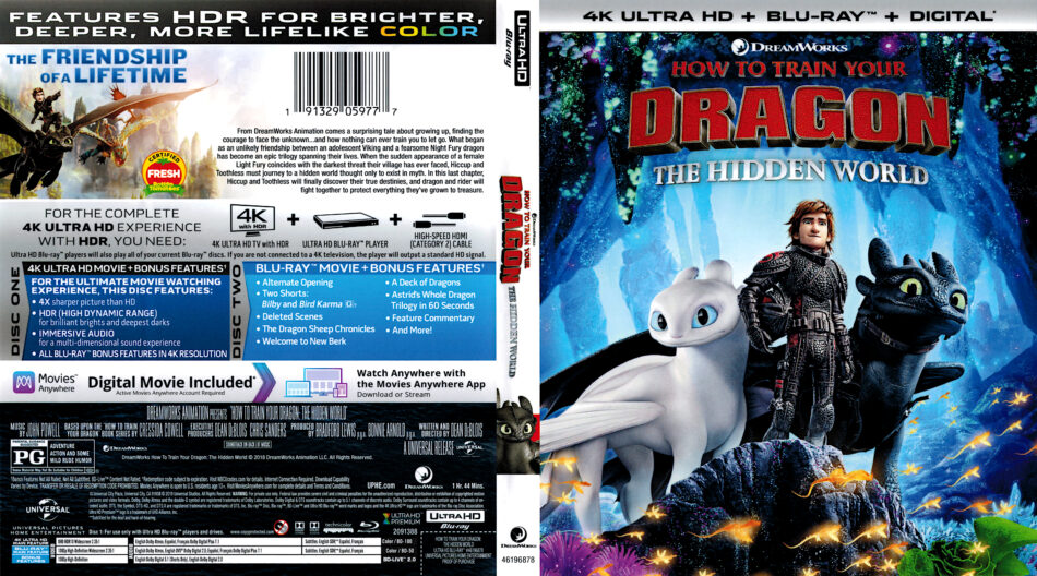 How To Train Your Dragon The Hidden World 2019 R1 4k Uhd Cover Dvdcover Com