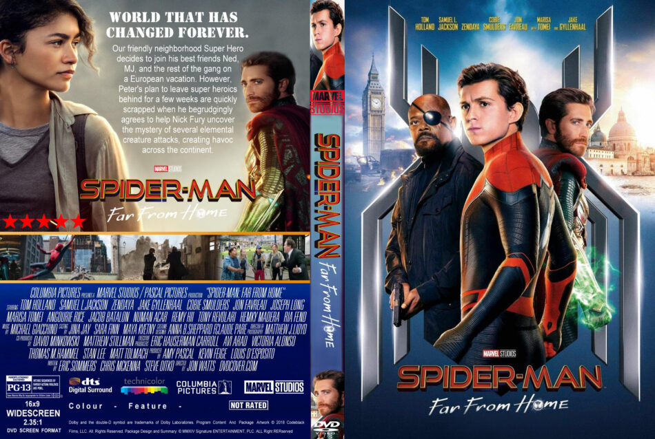 8d271c5f88b Spider-Man: Far From Home (2019) R1 Custom DVD Cover - DVDcover.Com