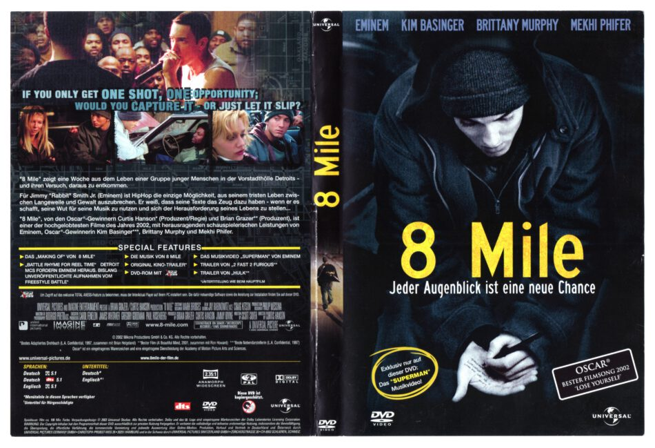 8 Mile 2002 R2 German Dvd Cover Dvdcover Com