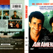 AIR AMERICA (1990) R1 DVD COVER & LABEL