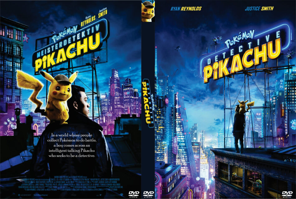 2019 Movie Photography Art: Pokémon Detective Pikachu (2019) R0 Custom DVD Cover