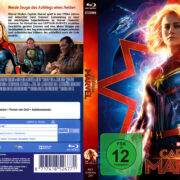 Marvel's Captain Marvel (2018) R2 German Custom Blu-Ray Covers & Label