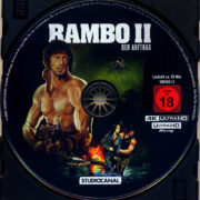 Rambo 2 Der Auftrag (1985) R2 German 4K UHD Blu-Ray Labels