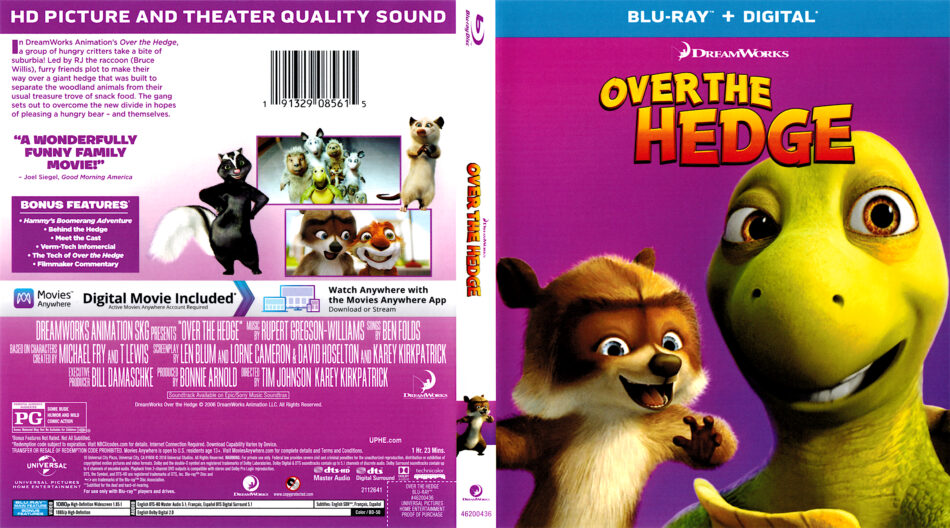 Over The Hedge 2006 R1 Blu Ray Cover Dvdcover Com