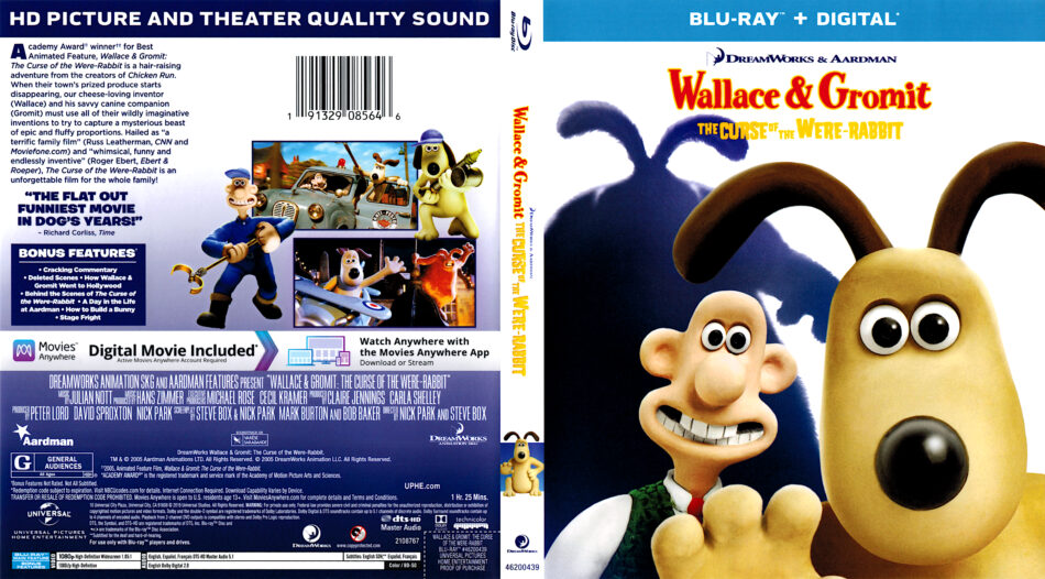 Wallace Gromit The Curse Of The Were Rabbit 2005 R1 Blu Ray Cover Dvdcover Com