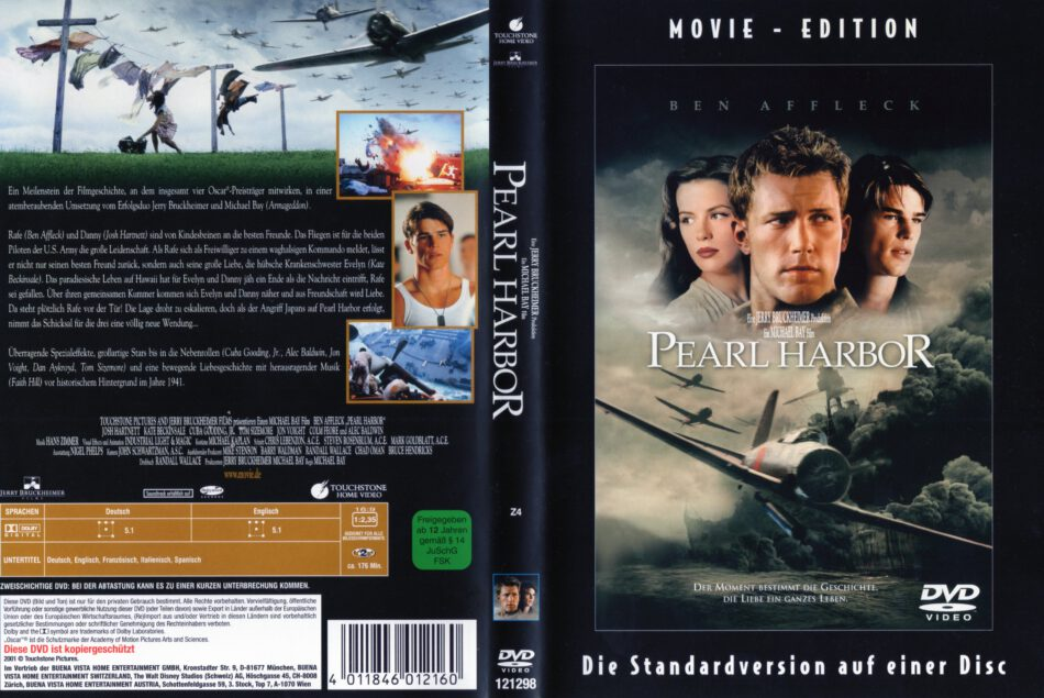 Pearl Harbor 2001 R2 German Dvd Cover Dvdcover Com