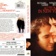 AUTUMN IN NEW YORK (2000) R1 DVD COVER & LABEL
