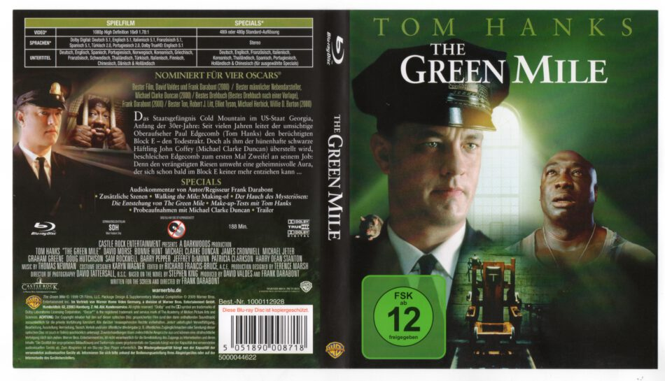The Green Mile 1999 R2 German Blu Ray Cover Dvdcover Com