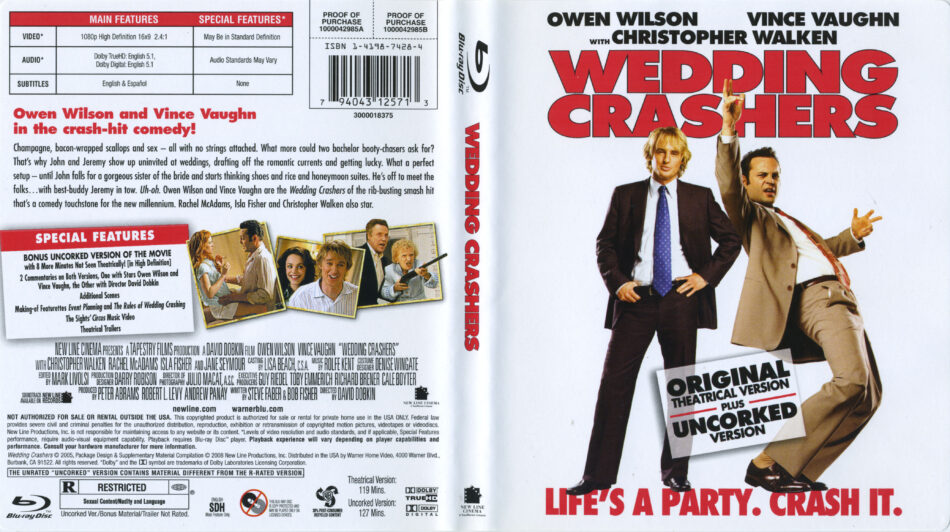 Wedding Crashers 2005 R2 Blu Ray Cover Label Dvdcover Com