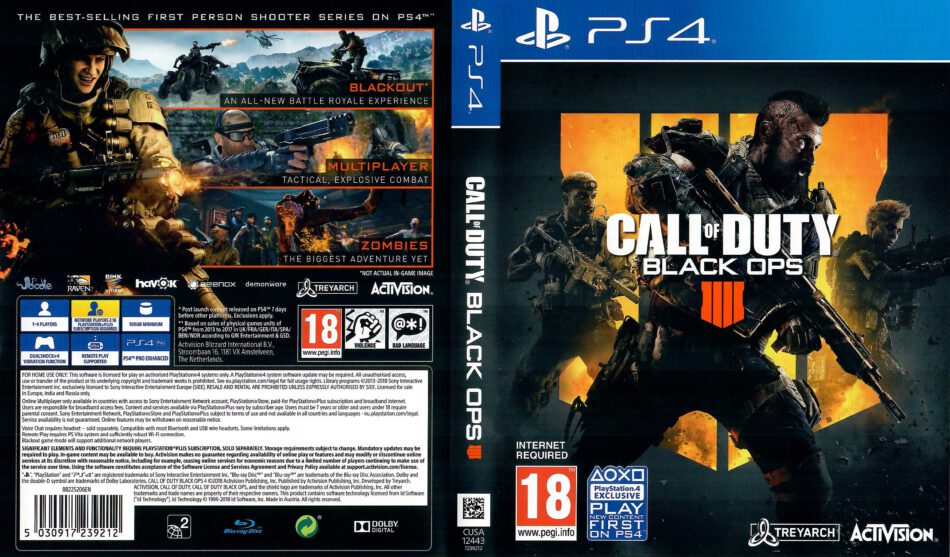 Call Of Duty Black Ops 4 Ps4 Cover Dvdcover Com