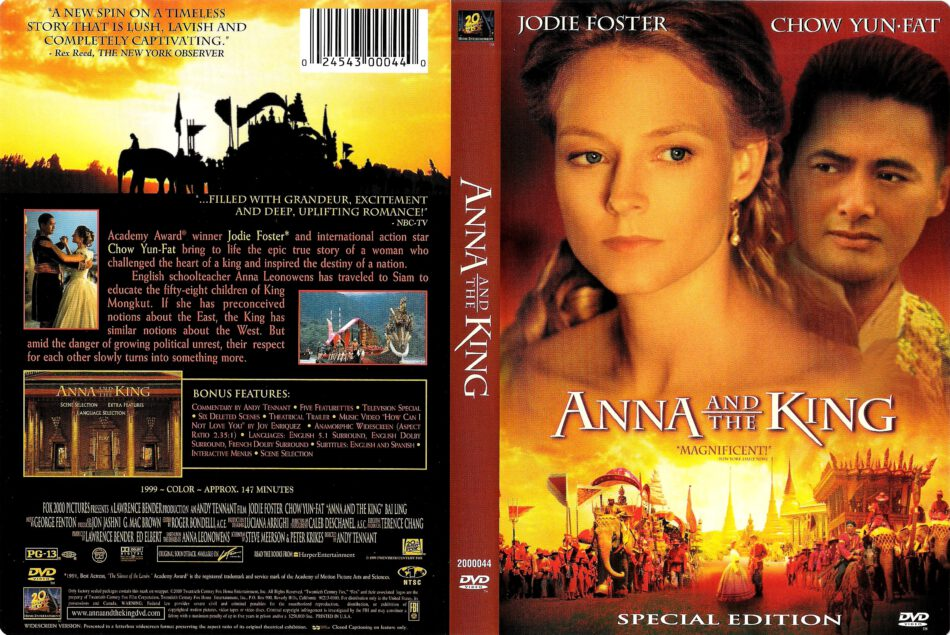 ANNA AND THE KING (1999) R1 DVD COVER & LABEL - DVDcover.Com