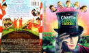 CHARLIE AND THE CHOCOLATE FACTORY (2005) R1 DVD COVER & LABEL