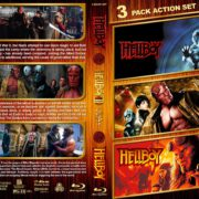 Hellboy Triple Feature R1 Custom Blu-Ray Cover