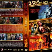 Hellboy Triple Feature R1 Custom DVD Cover