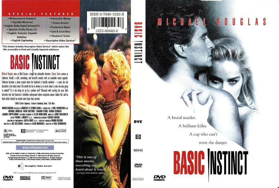 Basic Instinct 1992 R1 Dvd Cover Label Dvdcover Com