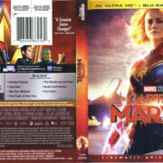 Captain Marvel (2019) 4K UHD Blu-Ray Cover & Labels