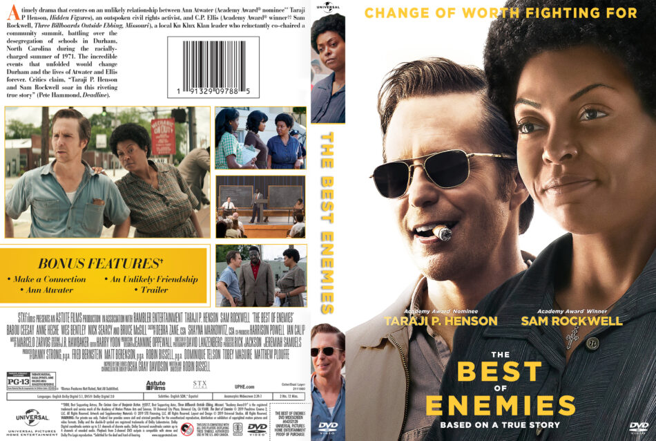 Best Dvds Of 2019 The Best of Enemies (2019) R1 DVD Cover   DVDcover.Com