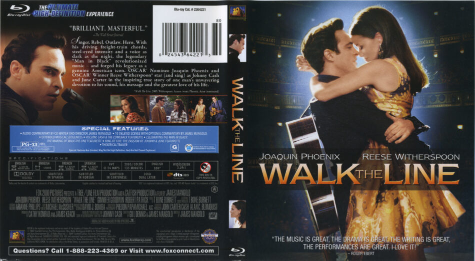 47599d2fe25 Walk The Line (2005) R1 Blu-Ray Cover & Label - DVDcover.Com