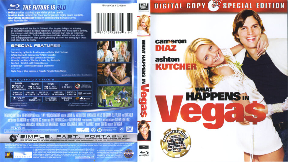 What Happens In Vegas 2008 R1 Blu Ray Cover Labels Dvdcover Com