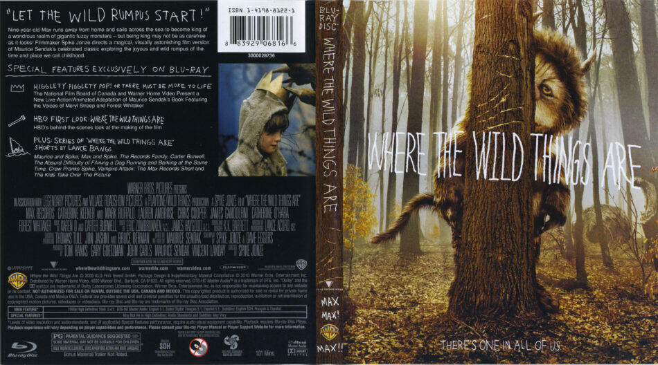 Where The Wild Things Are (2009) R1 Blu-Ray Cover & Labels ...