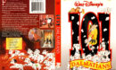 101 DALMATIANS (1961) R1 DVD COVER & LABEL