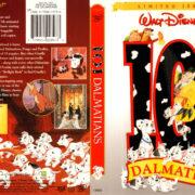 101 DALMATIANS (1961) R1 DVD COVER & LABEL