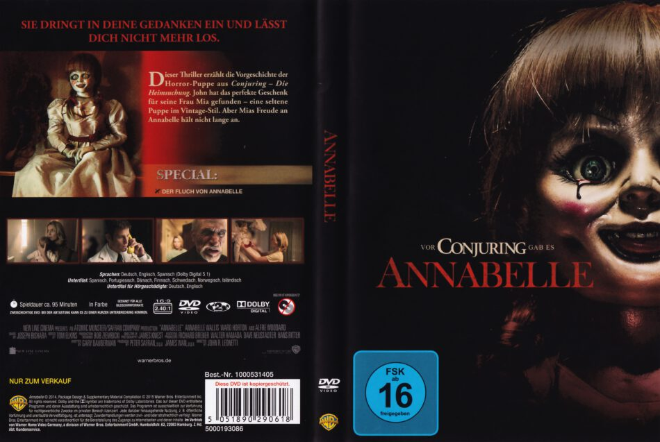 Annabelle 2014 R2 German Dvd Cover Dvdcover Com