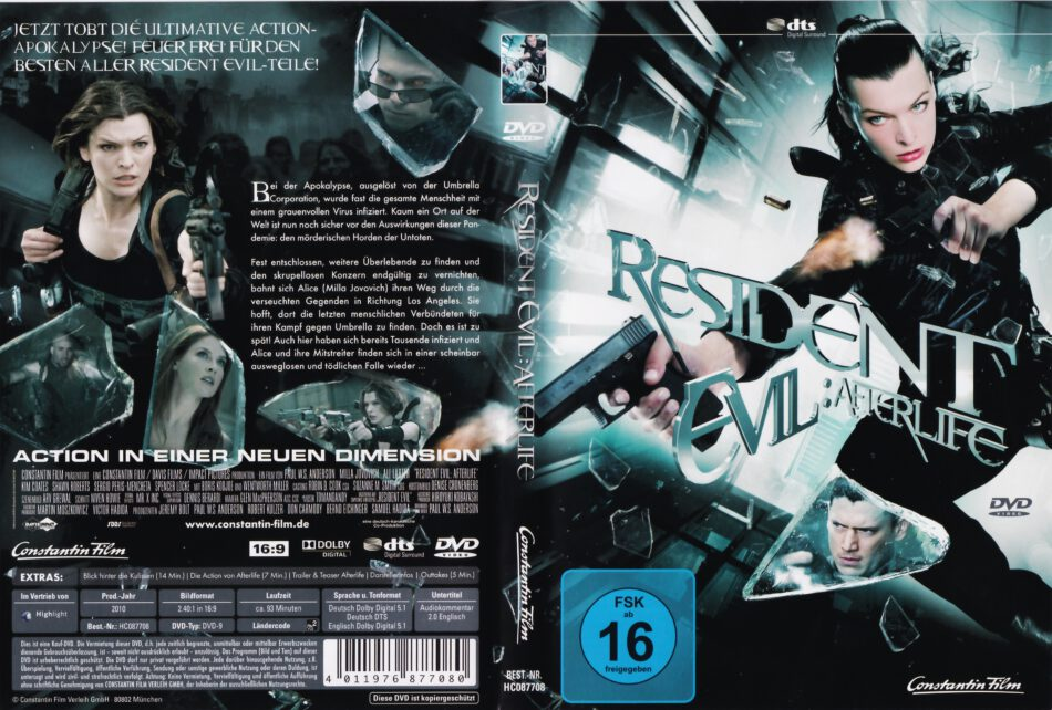 Resident Evil Afterlife 2010 R2 German Dvd Cover Dvdcover Com