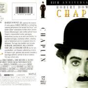 CHAPLIN 15TH ANNIVERSARY (1992) R1 BLU-RAY COVER & LABEL