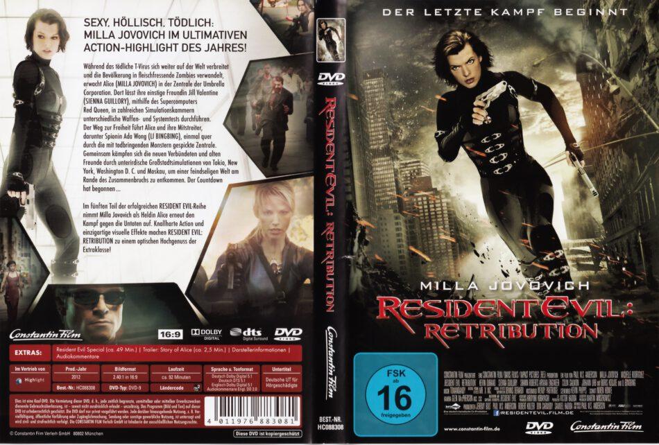 Resident Evil Retribution 2012 R2 German Dvd Cover Dvdcover Com