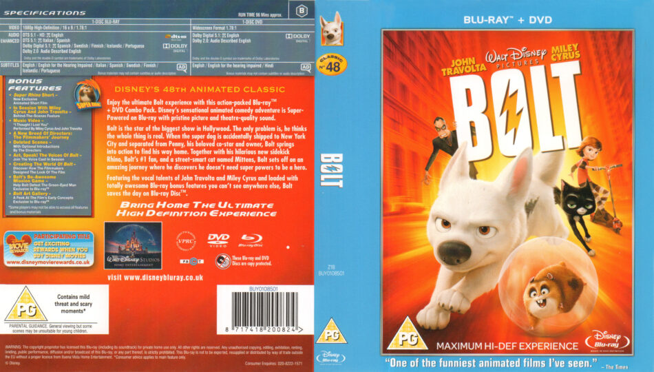 Bolt 2008 R2 Blu Ray Cover Labels Dvdcover Com