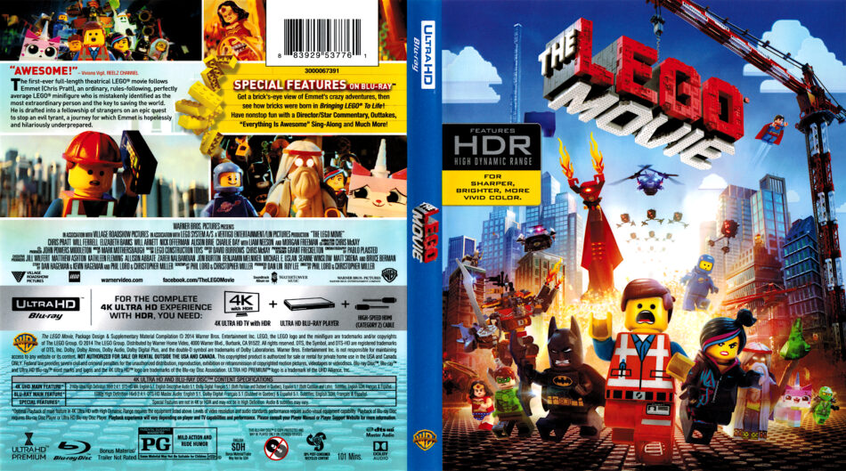 The Lego Movie 2014 R1 4k Uhd Blu Ray Cover Dvdcover Com