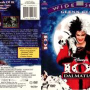 101 DALMATIANS (1996) R1 DVD COVER & LABEL