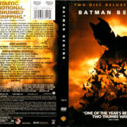 BATMAN BEGINS (2005) R1 DVD COVER & LABELS