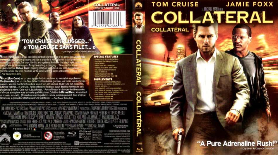 Collateral 2004 R1 Blu Ray Cover Label Dvdcover Com