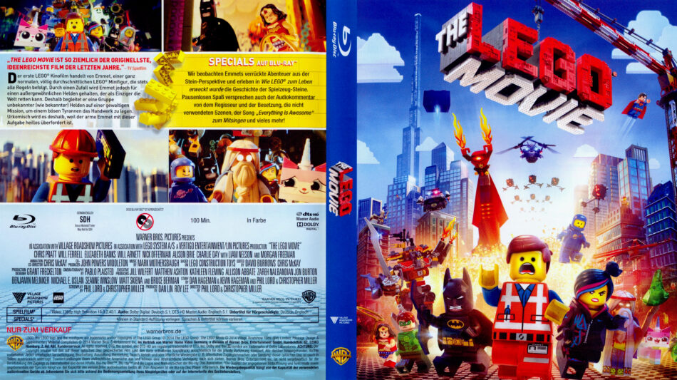 The Lego Movie 2014 R2 German Blu Ray Covers Dvdcover Com