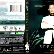 SPECTRE ENG/FRENCH (2015) R1 BLU-RAY COVER & LABEL