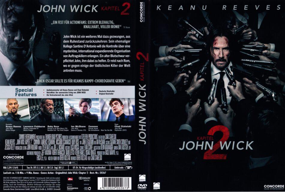 John Wick Kapitel 2 2017 R2 German Dvd Cover Dvdcover Com