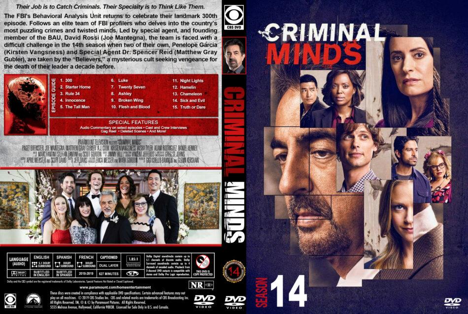Criminal Minds - Season 14 (2019) R1 Custom DVD Cover