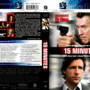 15 MINUTES (2001) R1 DVD COVER & LABEL