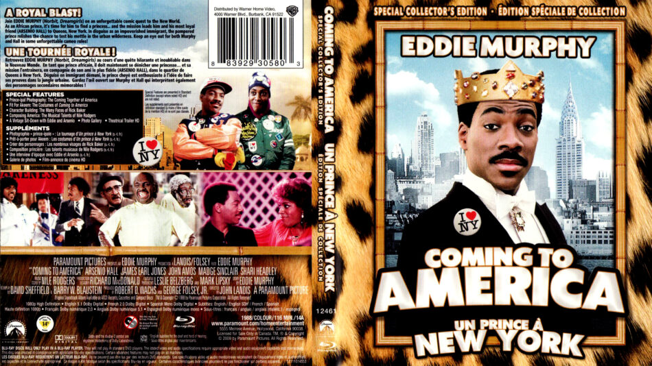 Coming To America 1988 R1 Blu Ray Cover Label Dvdcover Com