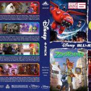 Disney 4-Pack R1 Custom Blu-Ray Cover