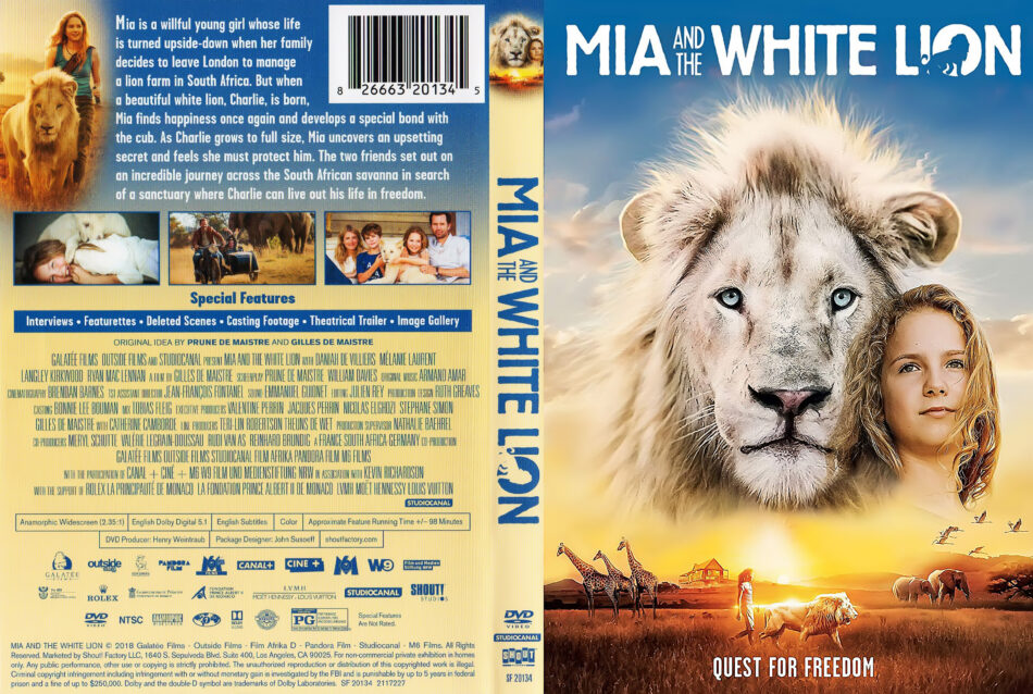 Mia And The White Lion 2018 R1 Dvd Cover Dvdcover Com